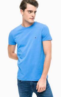 Однотонная футболка с круглым вырезом Tommy Hilfiger