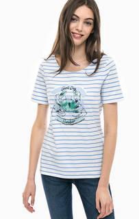 Полосатая футболка с принтом Gerry Weber