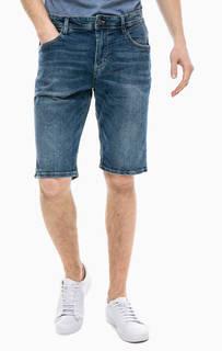 Синие джинсовые шорты с застежкой на молнию и болт Tom Tailor