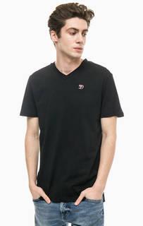 Хлопковая футболка с вышитым логотипом бренда Tom Tailor Denim