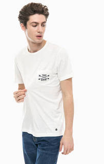 Хлопковая футболка с вышивкой и карманом Mustang