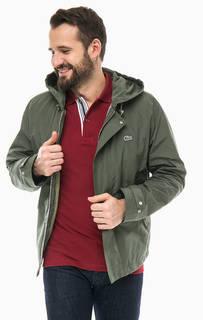 Куртка цвета хаки с дополнительным жилетом Lacoste