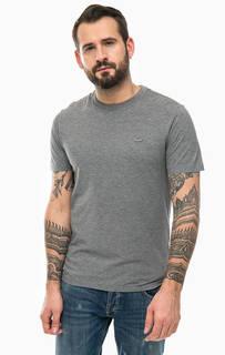 Серая футболка из хлопка Lacoste