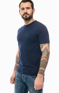 Синяя футболка из хлопка Lacoste