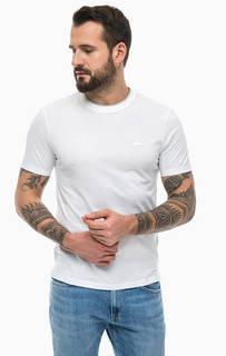 Белая футболка из хлопка Lacoste
