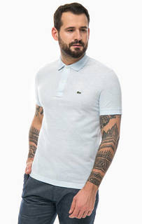 Голубая футболка поло с короткими рукавами Lacoste