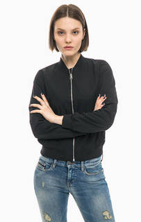Черный бомбер с карманами Calvin Klein Jeans