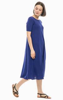 Синее платье из хлопка Stefanel