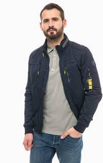 Синяя легкая куртка со скрытым капюшоном на молнии Lerros