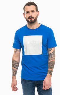 Синяя футболка с принтом Jack & Jones