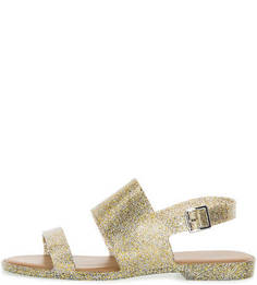Золотистые сандалии на ремешке Melissa