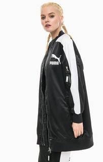 Удлиненная черная куртка Puma