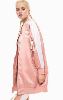 Удлиненная розовая куртка Puma