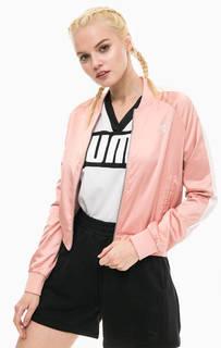 Розовая куртка бомбер Puma