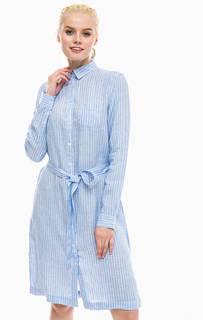Льняное платье-рубашка в полоску Gant