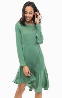 Зеленое платье ассметричного кроя Vero Moda