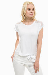 Белая футболка с короткими рукавами Lerros