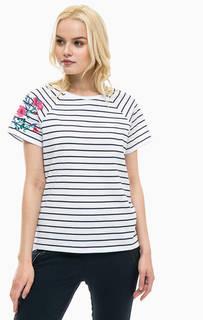 Полосатая футболка из хлопка Lerros