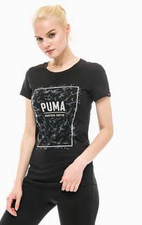 Хлопковая футболка с принтом Puma