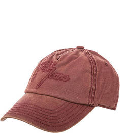 Красная бейсболка с логотипом бренда Pepe Jeans