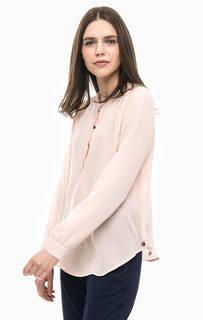 Блуза кораллового цвета с длинными рукавами Scotch&Soda