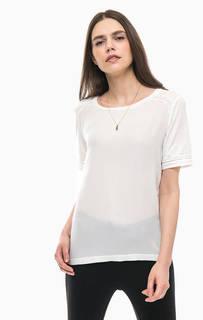 Белая однотонная футболка с кулоном Scotch&Soda