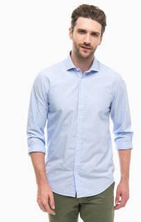 Синяя хлопковая рубашка в полоску Scotch&Soda