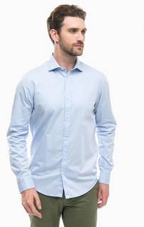 Синяя хлопковая рубашка на пуговицах Scotch&Soda