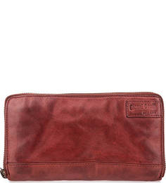 Красный кошелек из натуральной кожи Gianni Conti