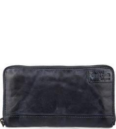 Синий кошелек из натуральной кожи Gianni Conti