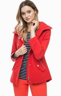 Приталенная куртка красного цвета Tom Tailor