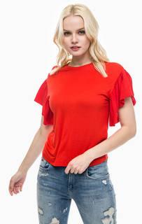 Красная футболка с короткими рукавами Noisy May