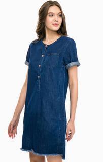 Синее джинсовое платье свободного кроя Lee