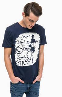 Хлопковая футболка с круглым вырезом Blue Seven