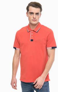 Хлопковая футболка поло с короткими рукавами Blue Seven