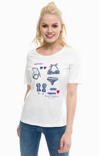 Хлопковая футболка с принтом Blue Seven