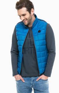 Синий жилет с карманами S.Oliver