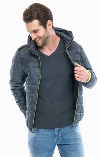 Серая куртка с карманами и капюшоном S.Oliver
