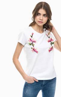 Хлопковая футболка с декоративной отделкой Silvian Heach