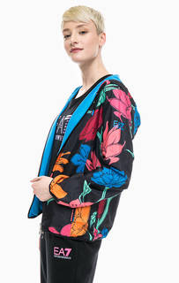 Двусторонняя куртка с цветочным принтом EA7