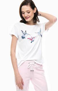 Хлопковая футболка с принтом Juvia