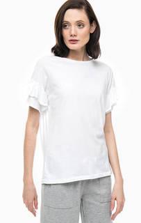 Белая футболка свободного кроя Juvia