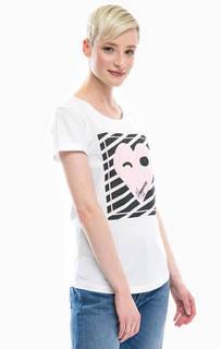 Хлопковая футболка с принтом Happiness