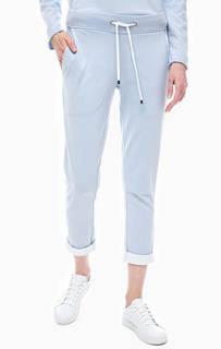 Синие трикотажные брюки джоггеры Juvia