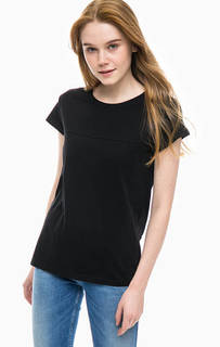 Черная хлопковая футболка с принтом Lee