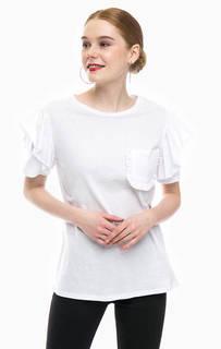 Хлопковая футболка с карманом Glamorous