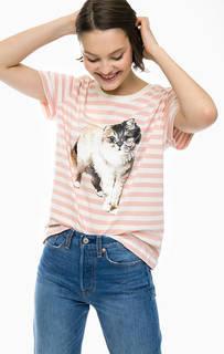 Хлопковая футболка в полоску Paul & Joe Sister