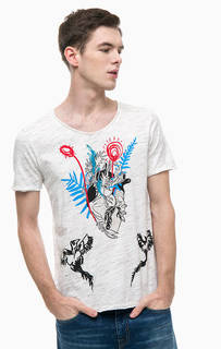 Хлопковая футболка с принтом Antony Morato