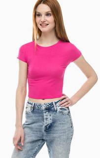 Укороченная футболка цвета фуксии Mavi