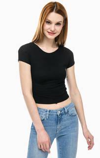 Укороченная футболка черного цвета Mavi